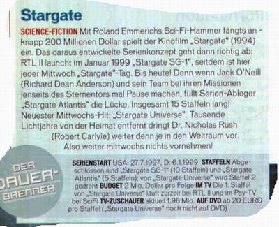 Ausschnitt TV Movie Stargate