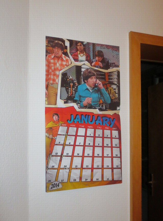 The Big Bang Theory Kalender 2014