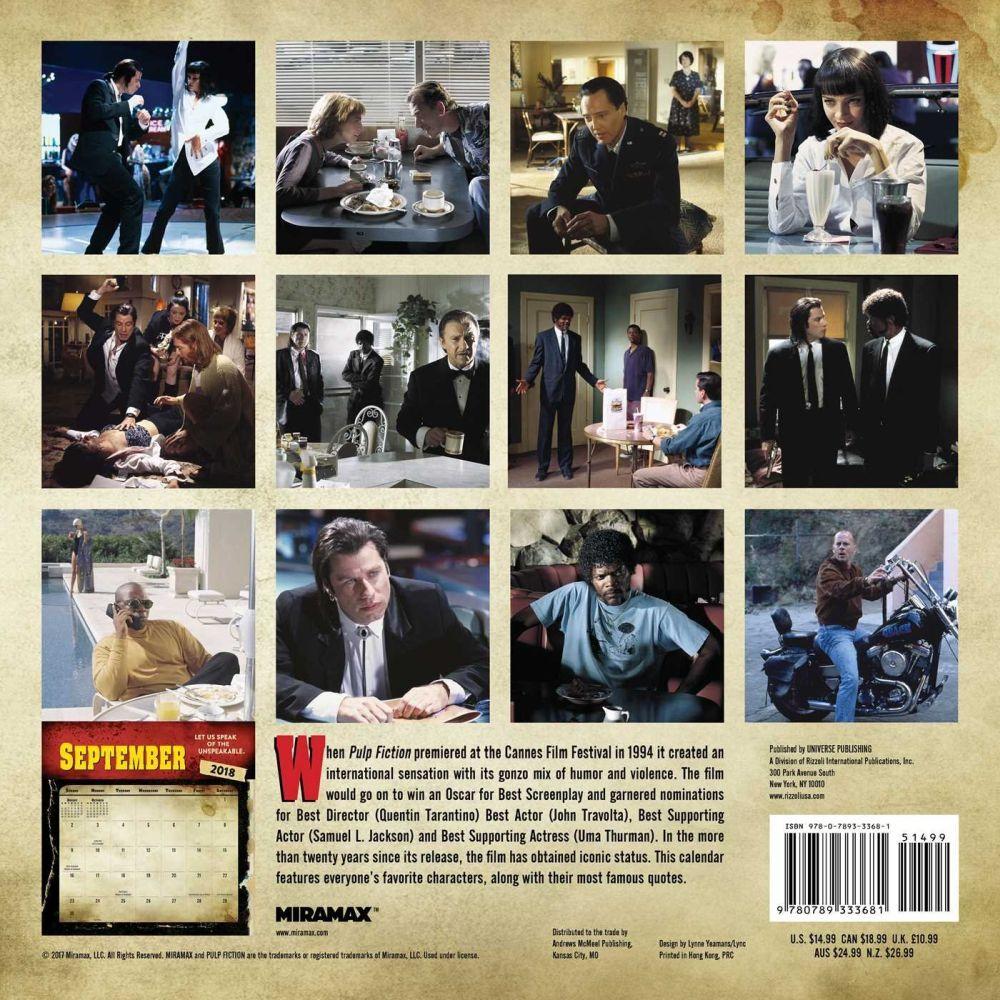 Pulp Fiction calendar 2018
