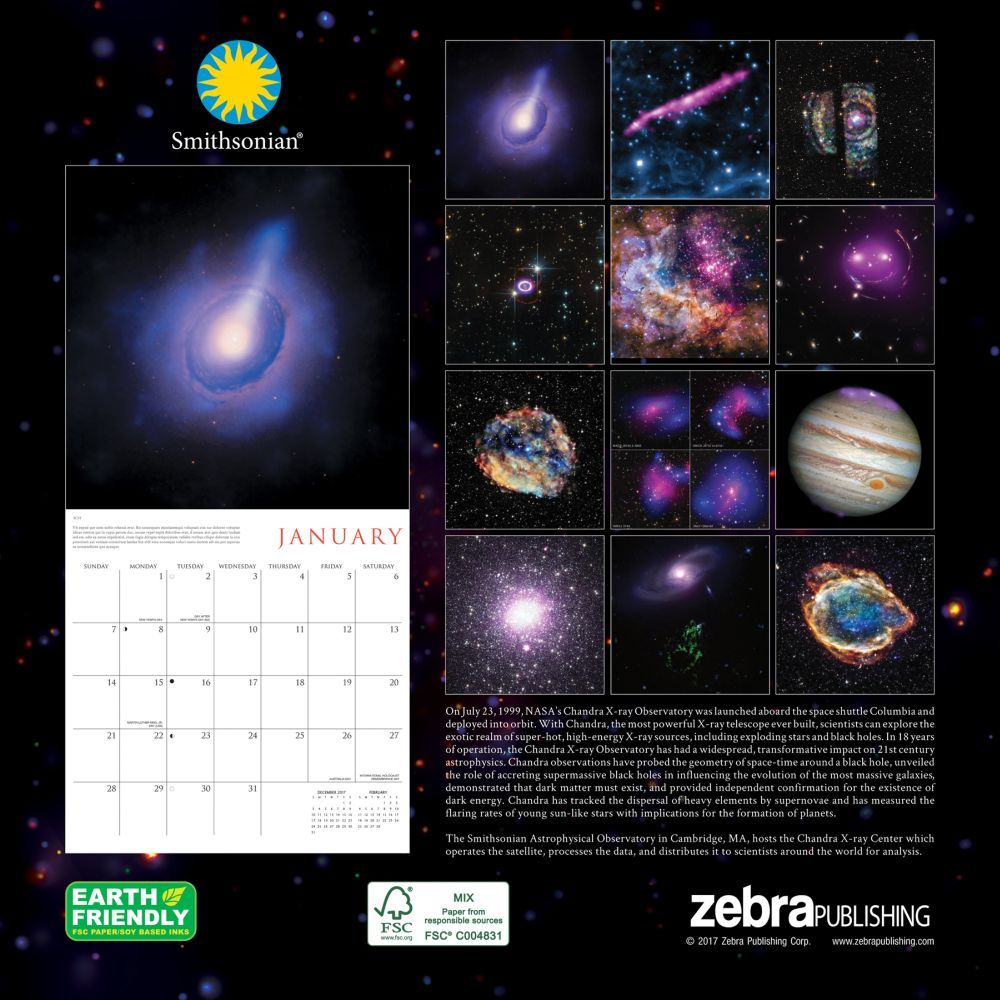 Space calendar 2018