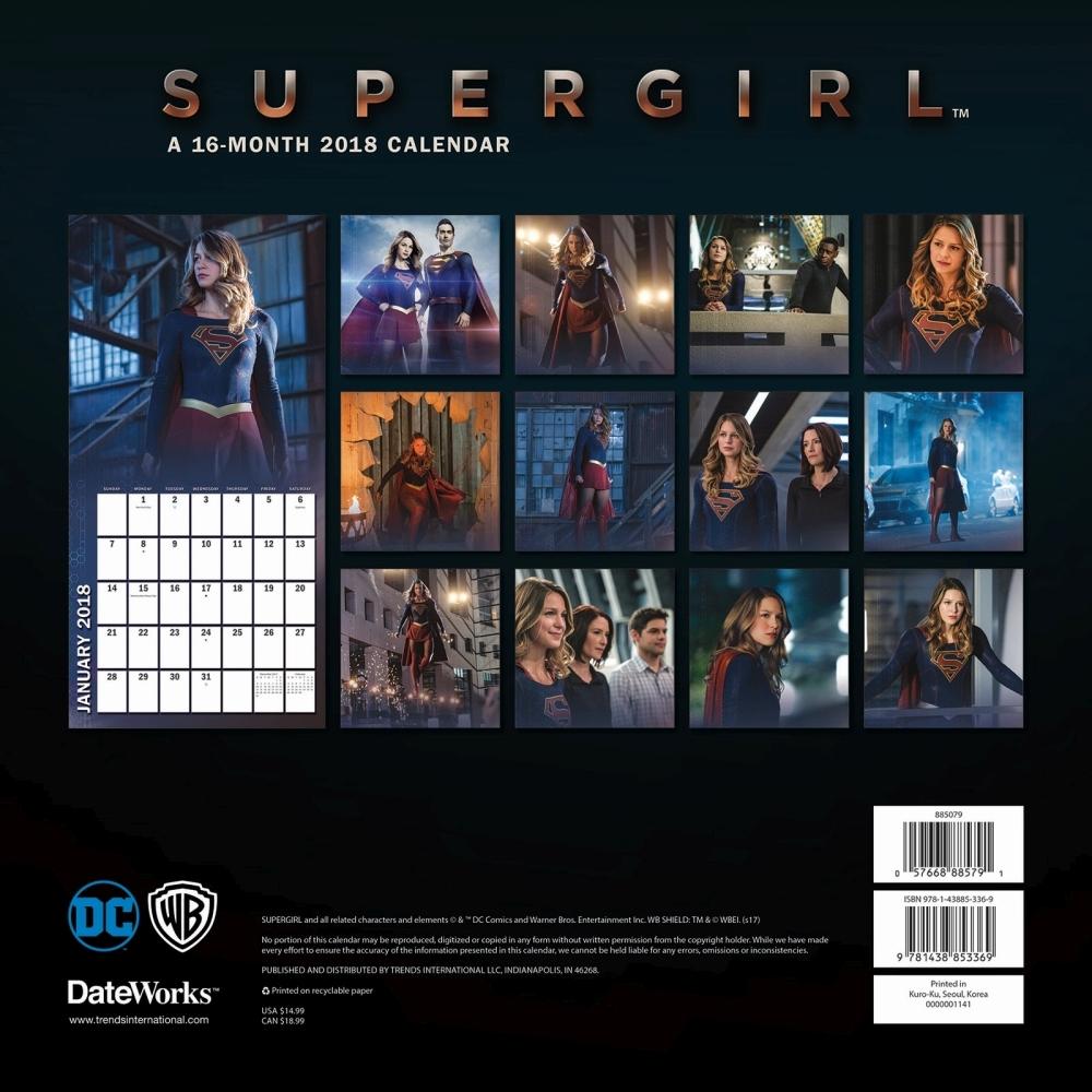 Supergirl calendar 2018